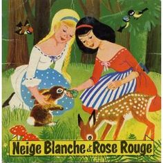 snow white and rose red french storybook