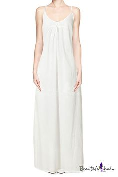 Ruched Front Maxi Dress with Adjustable Shoulder Straps