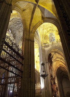 Seville Cathedral, Spain...3rd largest cathedral in the world. It took hours to see all the nooks and crannies