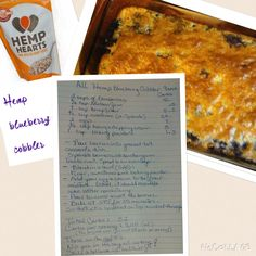 All Hemp blueberry cobbler- low carb- I made mine an even lower carb count by using liquid sweetener - mine comes out to 6.1 whole carbs/ 2.25 net per serving- 8 serving total, I also added 1/4 tsp vanilla extract