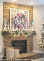 {Christmas 2012 Mantle} – with ornament wreath tutorial Christmas Ornament Wreath, Christmas Tree Toppers, Christmas Decorations, Christmas On A Budget, Christmas Crafts, Cabin Christmas, Xmas, Christmas Ideas, Pool Noodle Wreath