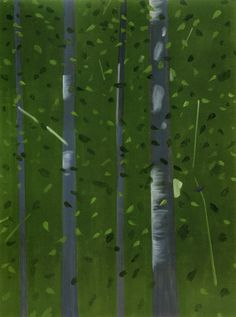 Alex Katz Woods in Twilight 2002 oil on canvas, 10.5 x 8 inches