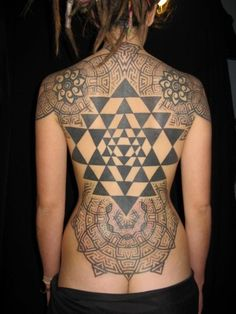Just the Sri Yantra part. <3 great placement... kickass tatoo