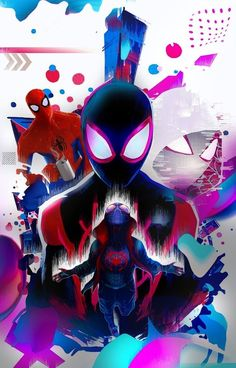 Sony Animation Studios and directors Peter Ramsey, Rodney Rothman, and Bob Persichetti go buck wild with the fantastic Spider-Man: Into the Spider-Verse. Ditching continuity altogether while… Amazing Spiderman, Black Spiderman, Spiderman Spider, Marvel Comic Universe, Marvel Art, Marvel Heroes, Ps Wallpaper, Disney Wallpaper, Wallpaper Quotes