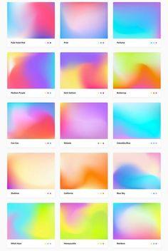 100 Free Mesh Gradients Source by friendlyvalkyrie Graphic Design Posters, Graphic Design Inspiration, Colour Pallete, Color Schemes, Branding, Workout Plan Template, Workout Plans, Palette Pastel, Web Design