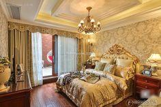 European classical luxury bedroom design and decoration 2015