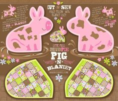 My favorite pillow pattern from Spoonflower Rlittle_miss_mud_pie_-_pig_n_blanket_contest49301preview