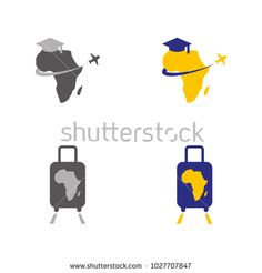 A set of african travel icons