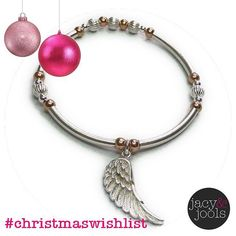 Rose gold & silver wing noodle  #ChristmasWishlist #jewellery #Christmas #sterlingsilver #wing #charm #bracelet #noodle #rosegold #mixedmetals #Cinta #fbloggers #wiwt #ootd #jotd