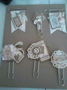 Ideas For Diy Paper Clips Tags – Scrapbooking Diy Paper, Paper Crafts, Paper Clips Diy, Paperclip Crafts, Paperclip Bookmarks, Paper Clip Art, Candy Cards, Marianne Design, Handmade Journals