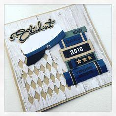 Student Graduation Cards, Masculine Cards, Diy Cards, Mini Albums, Cardmaking, Scrapbook, Inspiration, Creative, Handmade