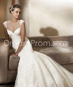 Elegant Trumpet/Mermaid Off-the-shoulder Floor-Length Lace Trimmed Wedding Dresses