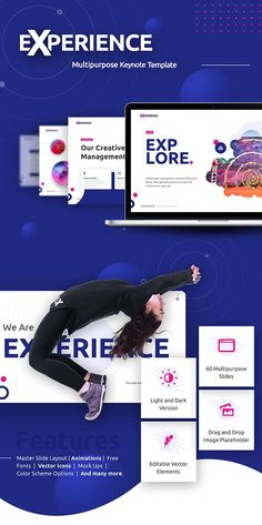 Buy Experience Multipurpose Keynote Template by RRgraph on GraphicRiver. Experience – Multipurpose Keynote Template is a very interesting keynote template and very easy to use. Business Powerpoint Templates, Keynote Template, Presentation Design, Presentation Templates, Image Font, Background Powerpoint, Writing Skills, Light In The Dark, Color Schemes