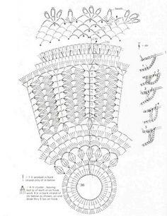 crochet lamp part 2 Crochet Doily Patterns, Crochet Diagram, Thread Crochet, Crochet Motif, Crochet Doilies, Knit Crochet, Lampe Crochet, Crochet Lampshade, Crochet Tablecloth