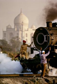 "Steve McCurry  ""Dusty & monumental, India's trains often seem as ancient as India itself."" ~ Paul Theroux"