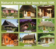 This is from a collection of nine natural homes which have all been built for less than 10,000 GBP (about $15,000). They are built using lime, straw, stone, roundwood, clay, reed, and turf. More at www.naturalhomes.org/homes-less-than-10k.htm