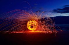 Playing with steel wool  at the beach in Port Fairy... First shot of the night!.... Thanks @chamberlain_pictures for the spinning  by greens_pics http://ift.tt/1UokfWI