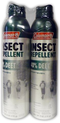 Coleman 40 Percent DEET Insect Repellent Twin Pack, 40%, 6 Ounce Aerosol