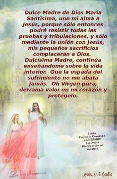 Oración a Maria Santisima.
