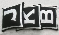 monogrammed throw pillow covers made from handloom fabric