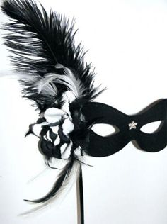 Black & White Burlesque Stick Mask, £25.68