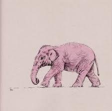 Afbeeldingsresultaat voor tekening roze olifant