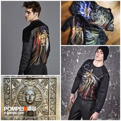 Antonio created his own brand AntPitagora in 2014. His design is full of Renaissance element, and blended with modern photography and 3D technique.Men﹕ http://e-pompei.com/Designers/antipitagora/men Women﹕ http://e-pompei.com/Designers/antipitagora/women