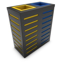 AURIGA Wastebasket Recycle Bin with 2 Collectors, Anthracite