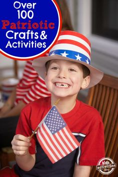 Over 100 patriotic crafts and activities for kids that are perfect for the Fourth of July or memorial day!  I love the tee-shirt decorating ideas!!