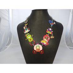 """Adorable collier """"la grenouille et la princesse"""".  Sans nickel.  50 cm (dont 8…"""