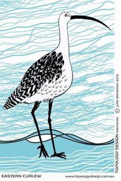 Endangered Species Tea-Towel Eastern Curlew