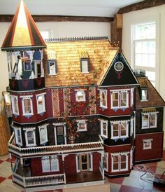 Glencliff Dollhouse Finished by our Customer