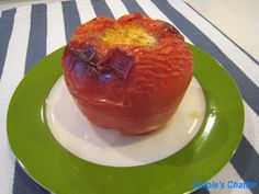 Carole's Chatter: Meatloaf in capsicum containers Paneer Cheese, Grated Cheese, Meatloaf, Sausage, Oven, Stuffed Peppers, Quotations, Vegetables, Cooking