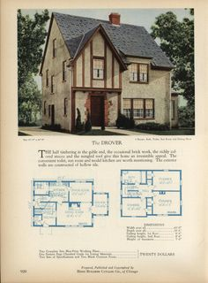 The DROVER - Home Builders Catalog: plans of all types of small homes by Home Builders Catalog Co. Published 1928