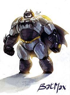 Baymax dressed as BATman= Batmax!!!
