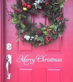 Merry Christmas Decal Christmas Vinyl Decal by CustomVinylbyBridge