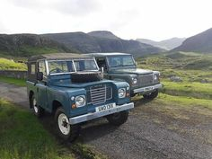 "@landroverphotoalbum: ""A Series III & Defender 90 By @landroverhebrides #landrover #Defender90 #landroverdefender…"""