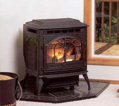 My pellet stove. Love it, keeps us warm all winter!