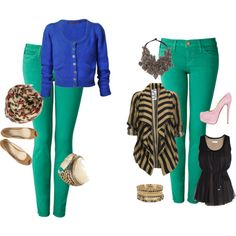green pants day to night