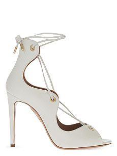 AQUAZZURA Tango leather peep-toe sandals