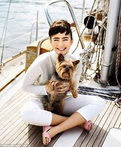#Lily #Collins love to sail and we love #sailing