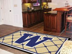 5x8 Area Rug - University of Washington