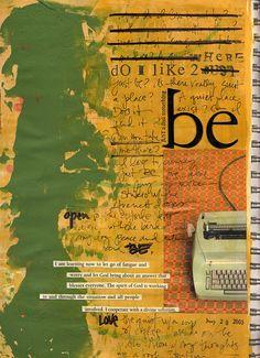 Ali Edwards art journal page