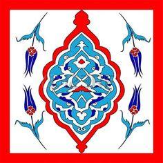 Traditional Oriental Art, of handmade Turkish tiles, photo