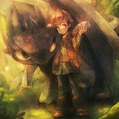Cute fanart of Toothless and Hiccup. Photo by nox_tmnt. Found of Tumblr