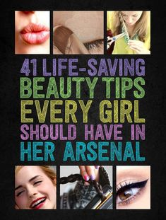 And how to FIX them!! Lots of pictures and tutorials.   20 Beauty Mistakes You Didn't Know You Were Making