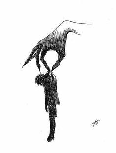 scary drawings of demons easy Creepy Drawings, Dark Art Drawings, Creepy Art, Pencil Art Drawings, Art Drawings Sketches, Cool Drawings, Drawing Drawing, Drawing Ideas, Illustration Art Drawing