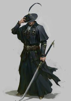 Super Ideas For Concept Art Characters Rpg Artworks Fantasy Characters, Character Design, Swordsman, Fantasy Artwork, Character Portraits, Samurai Art, Fantasy Character Design, Art, Fantasy Inspiration