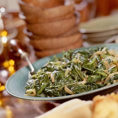 Turnip Greens With Caramelized Onions Recipe | MyRecipes