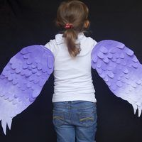 Wings are a main component of a bird costume, and an easy element to make. The most important parts of a bird wing are the shape and texture. A feathery element attached to the right shape creates a very authentic look. Look at pictures of the specific bird you are making wings for as inspiration for your colors and shape.